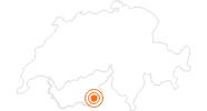 Ausflugsziel Staudamm Mattmark im Saastal: Position auf der Karte