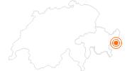 Ausflugsziel Biosfera Val Müstair - Parc Naziunal in Scuol Samnaun Val Müstair: Position auf der Karte