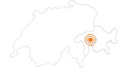 Ausflugsziel Naturpark Beverin in Surselva: Position auf der Karte