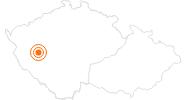 Ausflugsziel Pilsen - Platz der Republik in der Pilsner Region: Position auf der Karte