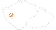 Ausflugsziel Große Synagoge in Pilsen in der Pilsner Region: Position auf der Karte
