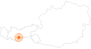 Ausflugsziel Eisgrotte Stubaier Gletscher in Stubai: Position auf der Karte