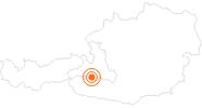 Ausflugsziel Kraftplatz Rauriser UrQuell in Nationalpark Hohe Tauern: Position auf der Karte