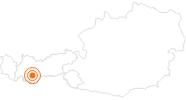 Ausflugsziel Begehbare Gletscherspalte Kaunertaler Gletscher im Pitztal: Position auf der Karte