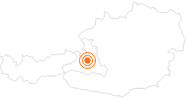 Ausflugsziel Slacklinepark Livingroom Mühlbach am Hochkönig im Salzburger Sonnenterrasse: Position auf der Karte