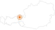Ausflugsziel KaiserWelt Scheffau in der Ferienregion Hohe Salve: Position auf der Karte