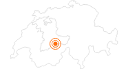 Ausflugsziel Aussichtsberg Schilthorn in der Jungfrau Region: Position auf der Karte