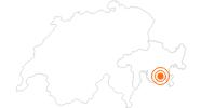 Ausflugsziel Aussichtsberg Corvatsch in Engadin St. Moritz: Position auf der Karte