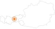 Ausflugsziel Münze Hall mit Münzerturm in der Region Hall - Wattens: Position auf der Karte
