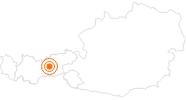 Ausflugsziel Kugelwald am Glungezer in der Region Hall - Wattens: Position auf der Karte