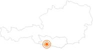 Ausflugsziel Garnitzenklamm in Nassfeld-Pressegger See - Lesachtal - Weissensee: Position auf der Karte