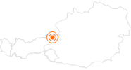 Ausflugsziel Triassic Park auf der Steinplatte bei Waidring im Pillerseetal: Position auf der Karte