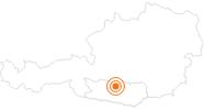 Ausflugsziel Erlebniswelt Nocky's AlmZeit auf der Turracher Höhe in der Region Nockberge Bad Kleinkirchheim: Position auf der Karte
