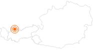 Ausflugsziel Hängebrücke highline179 bei Reutte in der Naturparkregion Reutte: Position auf der Karte