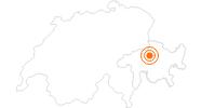 Ausflugsziel Rodelbahn Pradaschier in Chur: Position auf der Karte