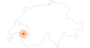 Ausflugsziel Schloss Chillon Alpes vaudoises: Position auf der Karte