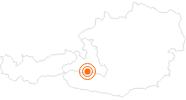 Ausflugsziel Hängebrücke am Stubnerkogel bei Bad Gastein im Gasteinertal: Position auf der Karte