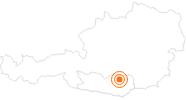 Ausflugsziel Schloss Pöckstein in der Erlebnisregion Hochosterwitz - Kärntenmitte: Position auf der Karte