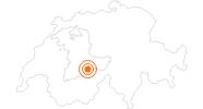 Ausflugsziel Thrill Walk am Schilthorn bei Mürren in der Jungfrau Region: Position auf der Karte