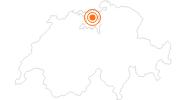Ausflugsziel Schloss Habsburg in Aargau: Position auf der Karte
