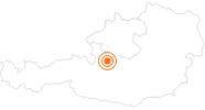 Ausflugsziel Urzeitwald in Gosau am Dachstein im Dachstein Salzkammergut: Position auf der Karte