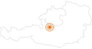 Ausflugsziel Salzwelten Hallstatt im Salzkammergut: Position auf der Karte