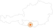 Ausflugsziel Abenteuer Affenberg Landskron in Villach-Warmbad / Faaker See / Ossiacher See: Position auf der Karte