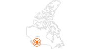 Ausflugsziel Glacier Skywalk im Jasper-Nationalpark: Position auf der Karte