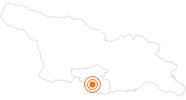 Tourist Attraction Cave City Vardzia in Samtskhe-Javakheti: Position on map