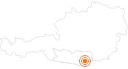 Ausflugsziel Walderlebniswelt mit Baumwipfelpfad am Klopeiner See am Klopeiner See - Südkärnten: Position auf der Karte