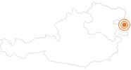 Ausflugsziel Römerstadt Carnuntum in Donau Niederösterreich: Position auf der Karte