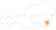 Ausflugsziel Veste Riegersburg im Thermenland Steiermark: Position auf der Karte