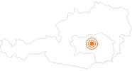 Ausflugsziel Der Wilde Berg Mautern in der Hochsteiermark: Position auf der Karte