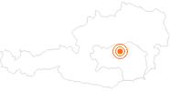 Ausflugsziel Abenteuer Erzberg in Eisenerz in der Oststeiermark: Position auf der Karte