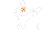 Tourist Attraction Taj Mahal in Uttar Pradesh: Position on map