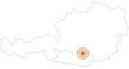 Ausflugsziel Erlebnis Burgbau Friesach in der Erlebnisregion Hochosterwitz - Kärntenmitte: Position auf der Karte