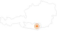 Ausflugsziel Burg Hochosterwitz am Klopeiner See - Südkärnten: Position auf der Karte