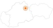 Ausflugsziel Aquapark Tatralandia in der Region Liptau: Position auf der Karte