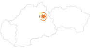 Tourist Attraction Demänovská Cave of Liberty in the Region of Liptov: Position on map