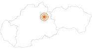 Ausflugsziel Höhle Demänovská jaskyna slobody in der Region Liptau: Position auf der Karte