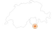 Ausflugsziel Weihnachtsmarkt in Lugano in der Region Luganersee: Position auf der Karte