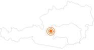 Ausflugsziel Mountain Gokart auf der Hochwurzen in Schladming-Dachstein: Position auf der Karte