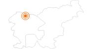 Ausflugsziel Vintgar-Klamm in der Region Goriska - Smaragdstraße: Position auf der Karte