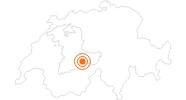 Ausflugsziel Staubbachfall bei Lauterbrunnen in der Jungfrau Region: Position auf der Karte