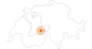 Ausflugsziel Trümmelbachfälle im Lauterbrunnental in der Jungfrau Region: Position auf der Karte