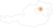 Ausflugsziel Schloss Schallaburg in Donau Niederösterreich: Position auf der Karte