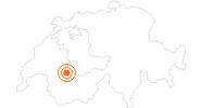 Ausflugsziel Käsegrotte - Molkerei Gstaad in Gstaad - Saanenland: Position auf der Karte