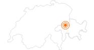 Ausflugsziel Baumwipfelpfad Laax in Flims Laax Falera: Position auf der Karte