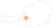 Ausflugsziel Wagrainis Grafenberg in der Salzburger Sportwelt: Position auf der Karte