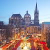 Der Katschhof ist das Herz des Aachener Weihnachtsmarkts.